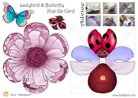 butterfly template for pop up cards how to make ladybird butterfly pop up card hattifant