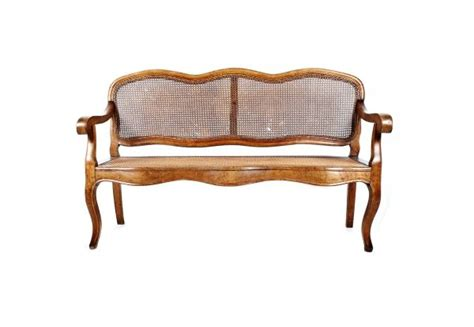 french country settee bench french caned settee a french country bench or settee