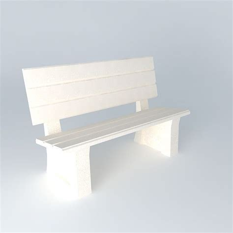 park bench wing park bench 3d model max obj 3ds fbx stl dae