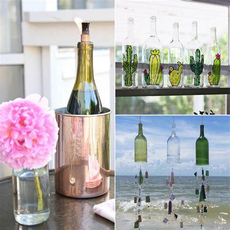 diy wine bottle crafts home design garden