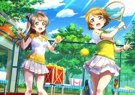 Jaket Sport Anime Live School Idol Kotori Minami Jg 2girls bow brown hair clouds headband koizumi hanayo hair live school idol
