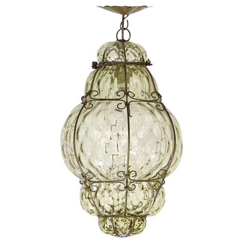 Murano Ceiling Hand Blown Glass Pendant L By Seguso Blown Glass Light Pendants