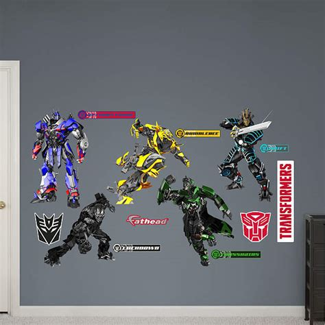 transformers wall stickers transformers age of extinction collection wall decal shop fathead 174 for transformers decor