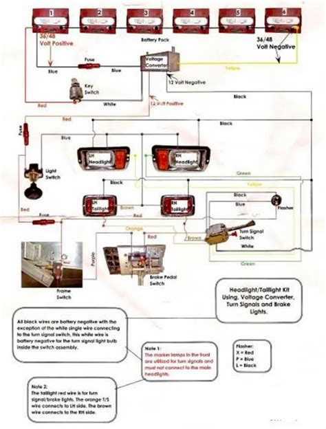club car light kit wiring diagram 86 club car wiring