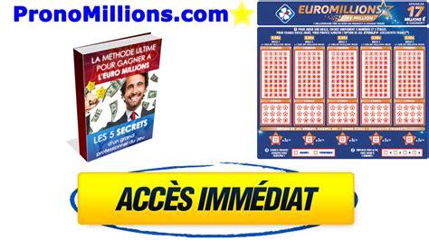 Euromillion Grille by Pronostics Millions Vendredi 11 Janvier 2019 Une