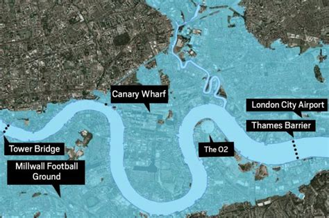 thames barrier flood map terrorists could blow up the thames barrier police fear