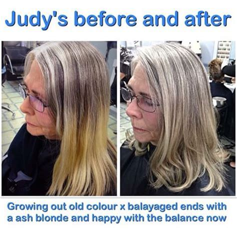how to grow out highlights image result for growing out grey hair with highlights