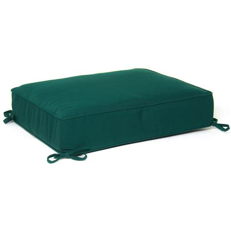 Ottoman Pillows Ultimatepatio Medium Replacement Outdoor Ottoman Cushion With Piping Canvas Forest Green