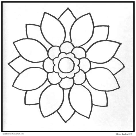 simple pattern colouring pages simple mandala coloring pages printable deviantart more
