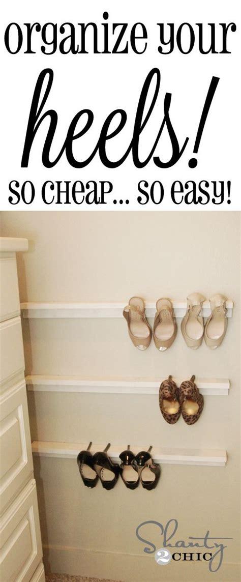 closet organization shoe organizers diy closet heels
