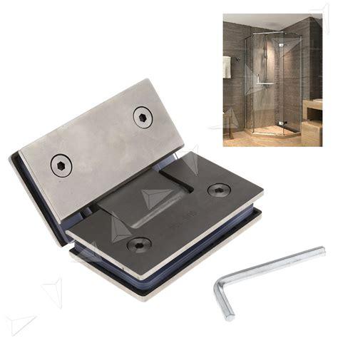Glass Shower Door Brackets 135 Degree Frameless Glass To Shower Door Bracket Hinge Chrome Plated Clip Ebay