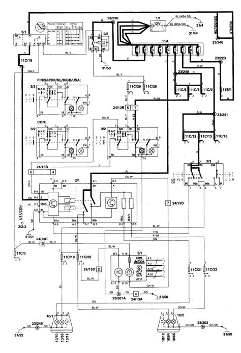 volvo c70 1999 2004 wiring diagrams headls