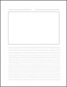 free printable lined paper with picture box four line writing paper printable printable pages