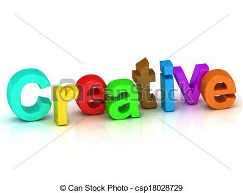 creative clipart the word creative clipart