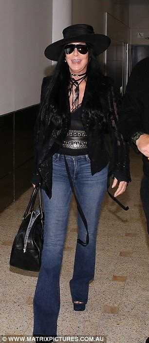 Drew To Front Fashion Caign by Youthful Cher Rocks Edgy Ensemble In Sydney Daily Mail