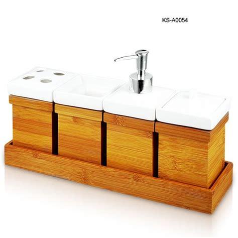 bamboo bathroom set bamboo ceramic bathroom set buy bathroom set bathroom