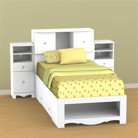 nexera pixel low bookcase storage bed n 314803set1