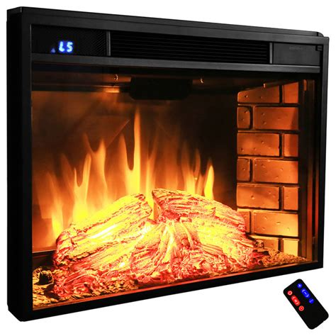 akdy electric fireplace firebox heater