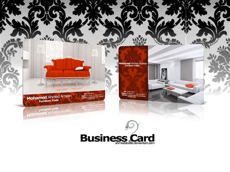 upholstery trade furniture trade business card by ahmedstudio on deviantart