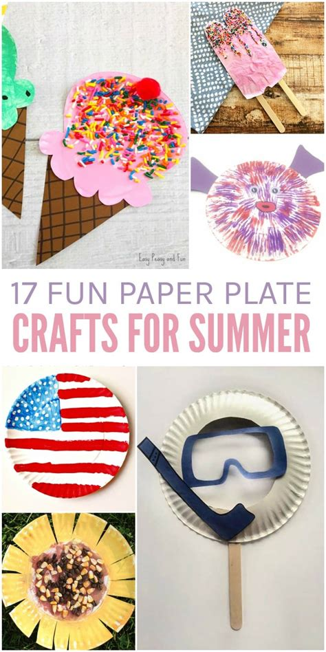Summer Paper Crafts For - 17 paper plate crafts for summer glue sticks and