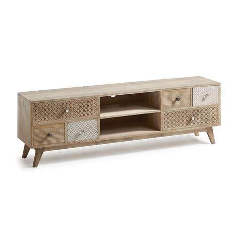 tv meubel van hout kave home hoob authentiek tv meubel van hout laforma hood
