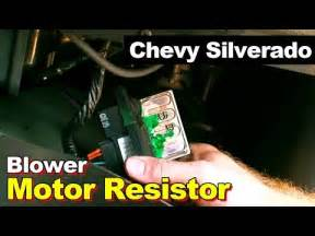 how to replace blower motor resistor in chevrolet