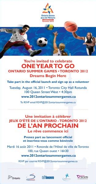 design contest ontario you re invited celebrate one year to go ontario games