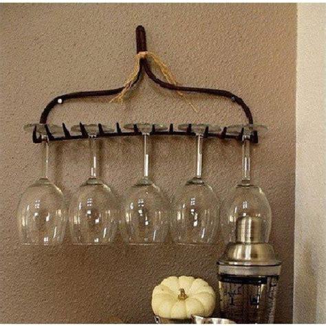 Repurposed Wine Rack by Repurposed Rake As A Wine Rack Home Sweet Home