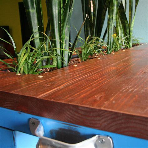 Planter Box Table by Industrial Style Table With Planter Box Slipstream Creations