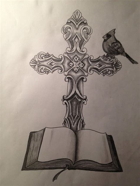 drawings of cross tattoos the gallery for gt cool christian cross drawings