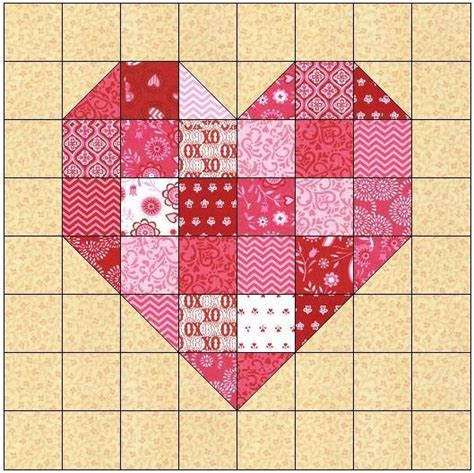 pattern for heart quilt scrappy heart quilt block pattern by feverishquilter craftsy