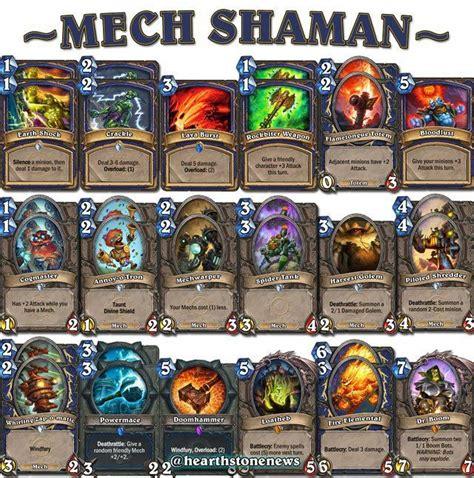 shaman deck mech shaman deck hearthdecko decks