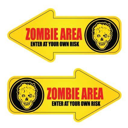 Auto Sticker Zombie by Zombie Stickers 30 Stickythings Nl