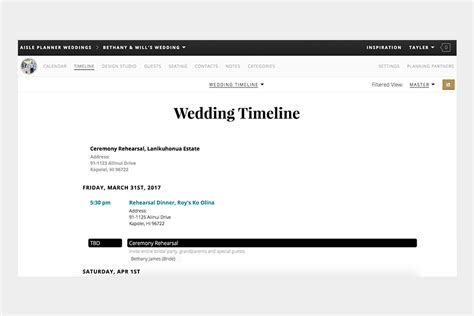 Wedding Aisle Timeline by Including Vendor Input In Your Wedding Timeline Aisle