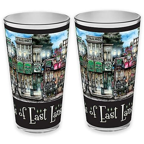 bed bath and beyond lansing pubsof east lansing michigan pint glasses set of 2
