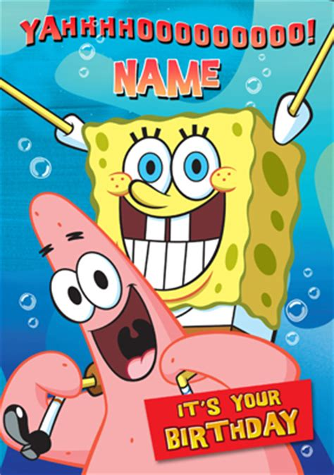 Spongebob Birthday Card Happy Birthday Dadmom Angrypants 23 Birthdays