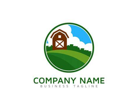 green farm logo design premium vector