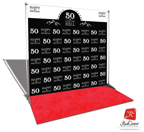 backdrop design for 50th birthday over the hill 50th birthday backdrop black 8x8 red