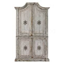 White Washed Bedroom Furniture - bedroom armoires heavily distressed white accent armoire unit pulaski furniture 208021 5