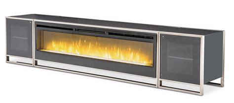 L And R Fireplace by Aico Metro Lights Tv Console Fireplace Electric Insert And