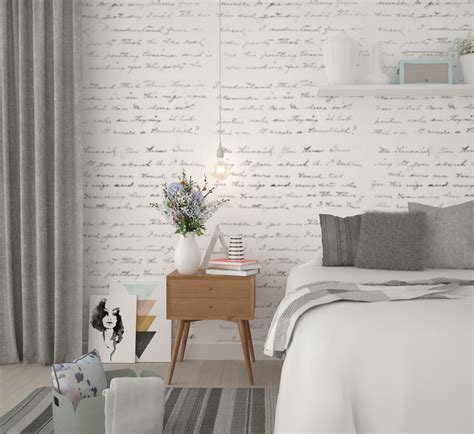 breezy scandinavian bedroom brown 3d visualisation