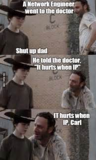 Walking Dead Rick And Carl Meme - the 18 best rick and carl joke memes