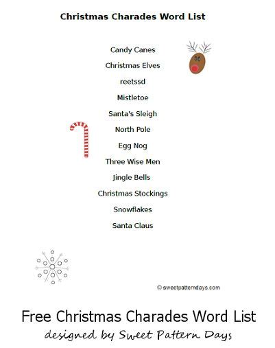 4 best images of christmas charades free printable 24 best christmas charades images on pinterest free