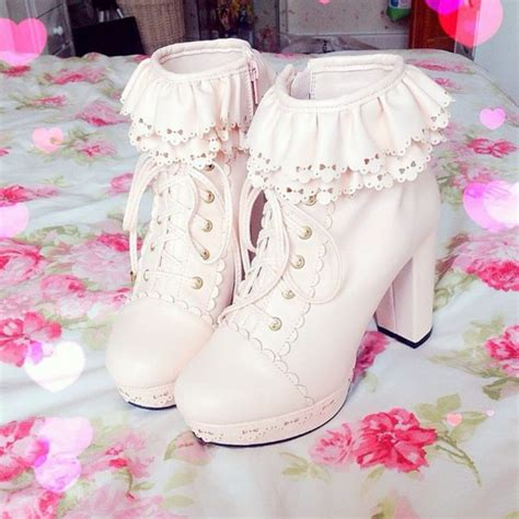 shoes booties boots heels kawaii shoes kawaii boots