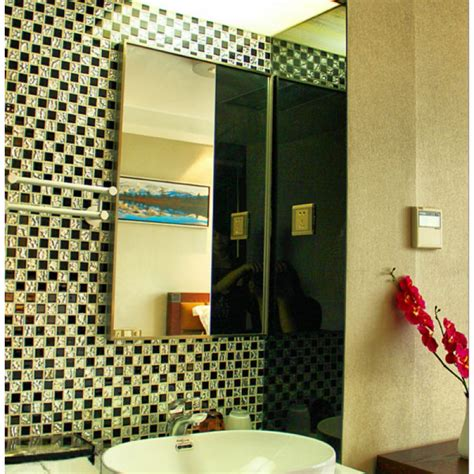 black glass mosaic floor tile mirror tile backsplash 4013