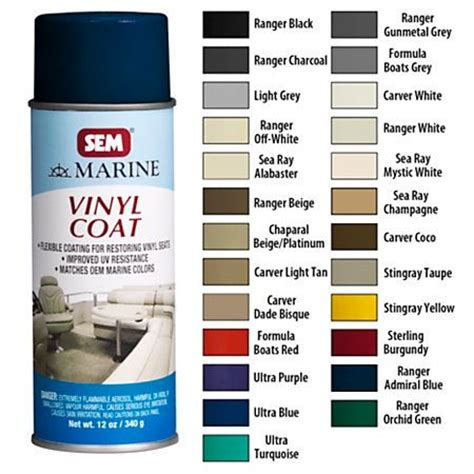 vinyl upholstery spray paint sem marine vinyl coat spray overton s boat pinterest