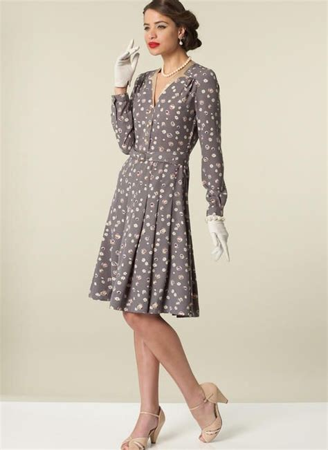 dress pattern notches mccall s archive collection dress circa 1943 m7433