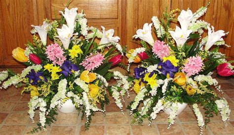 flower arrangements church silk wedding altar vases