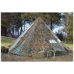 backyard teepee tent hq issue 10 x 10 teepee tent woodland camo 234573