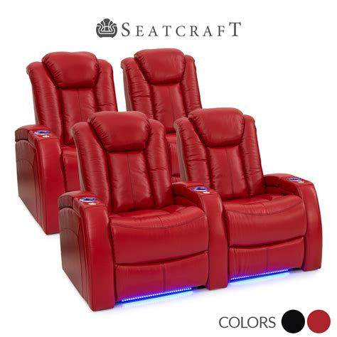 power recliner theater seats seatcraft delta leather home theater seating power